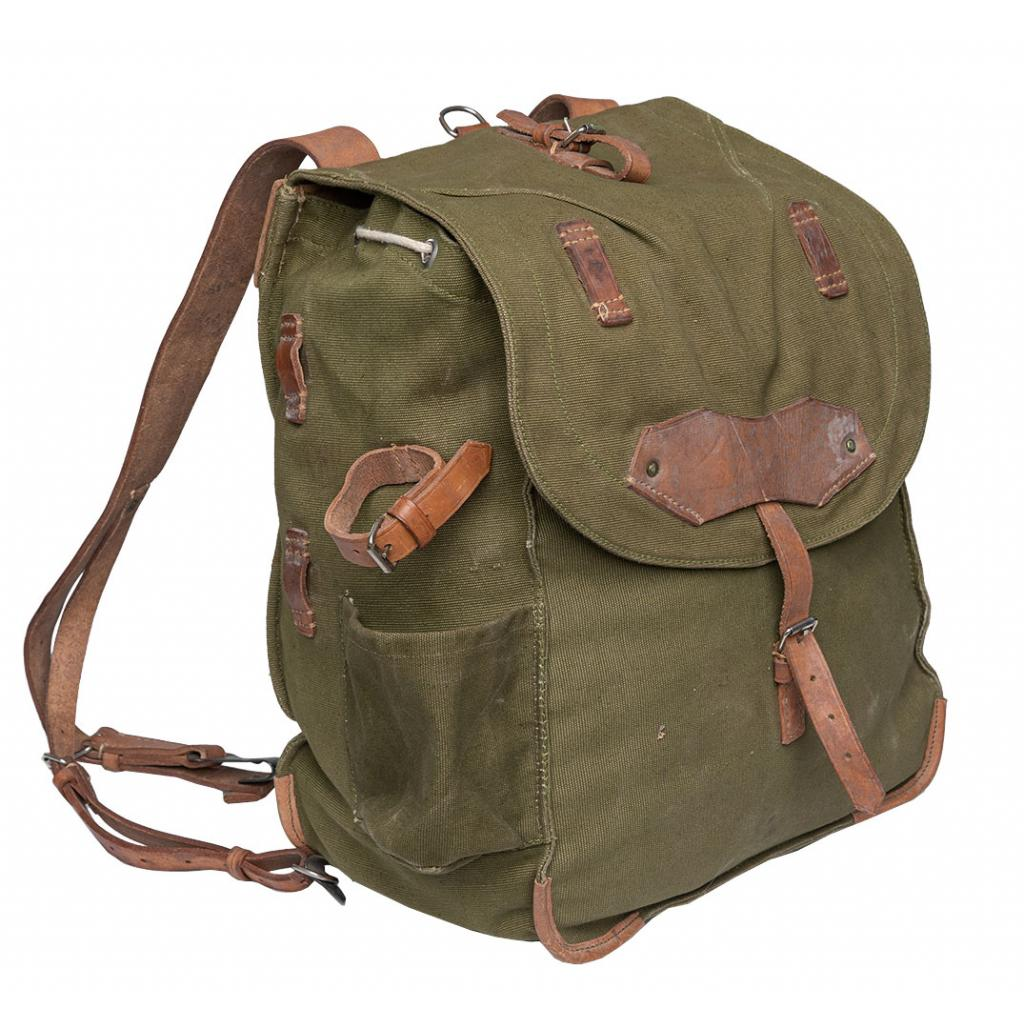 Olive Green Military Style Heavy Canvas Ourdoor Backpack